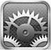 iPhone4の設定アイコン